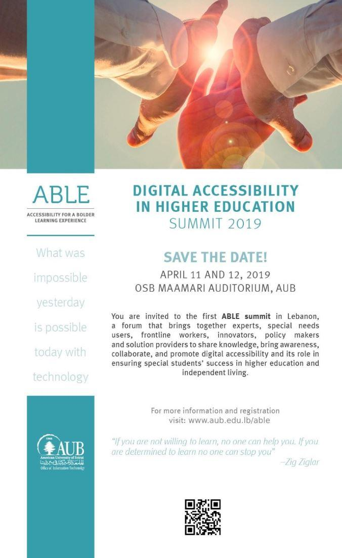 ABLE Summit poster